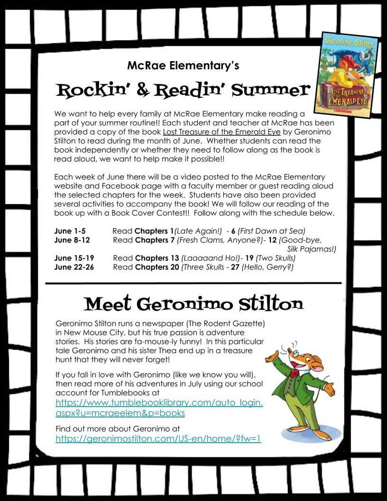 Rockin'  &  Readin' Summer for McRae Students