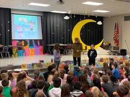 Award-Winning Author Entertains Students