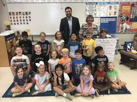 Mrs. Russell's Class Visits with Senator