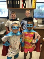 Super Heroes Protect Our School!!