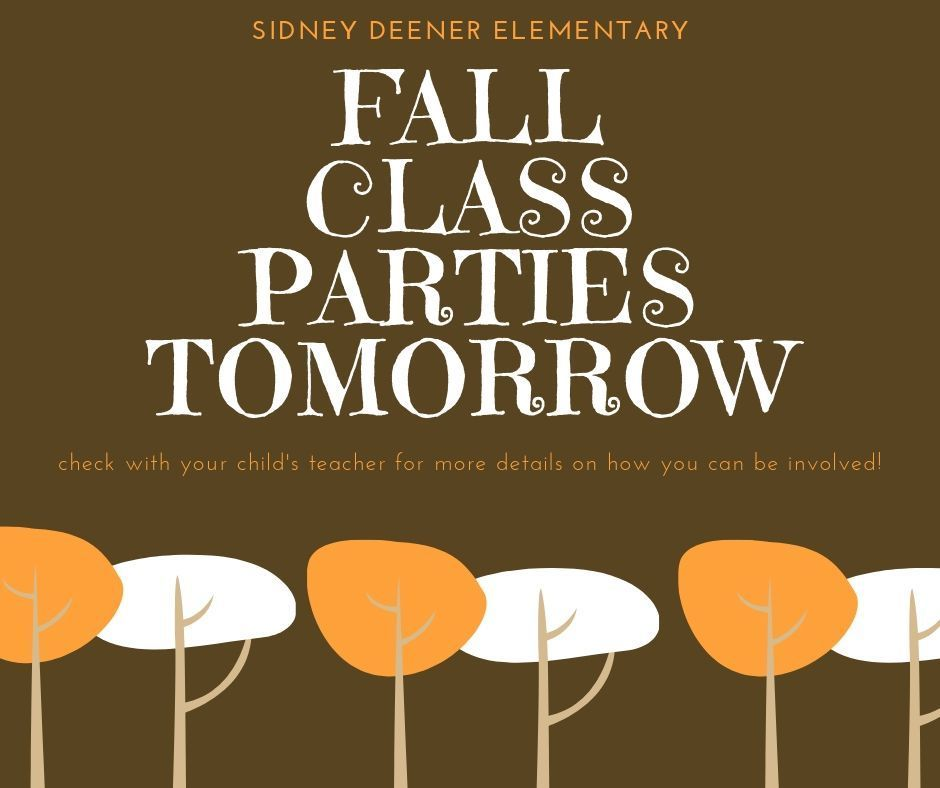 fall party tomorrow