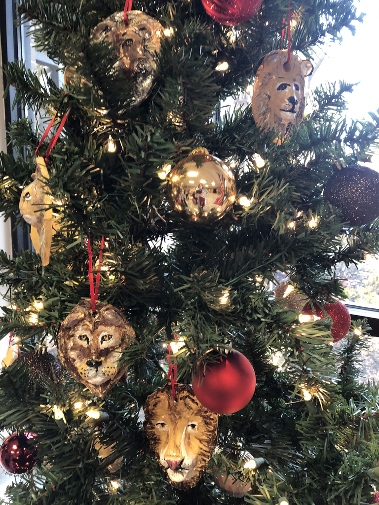 Christmas Tree with Lion Ornaments