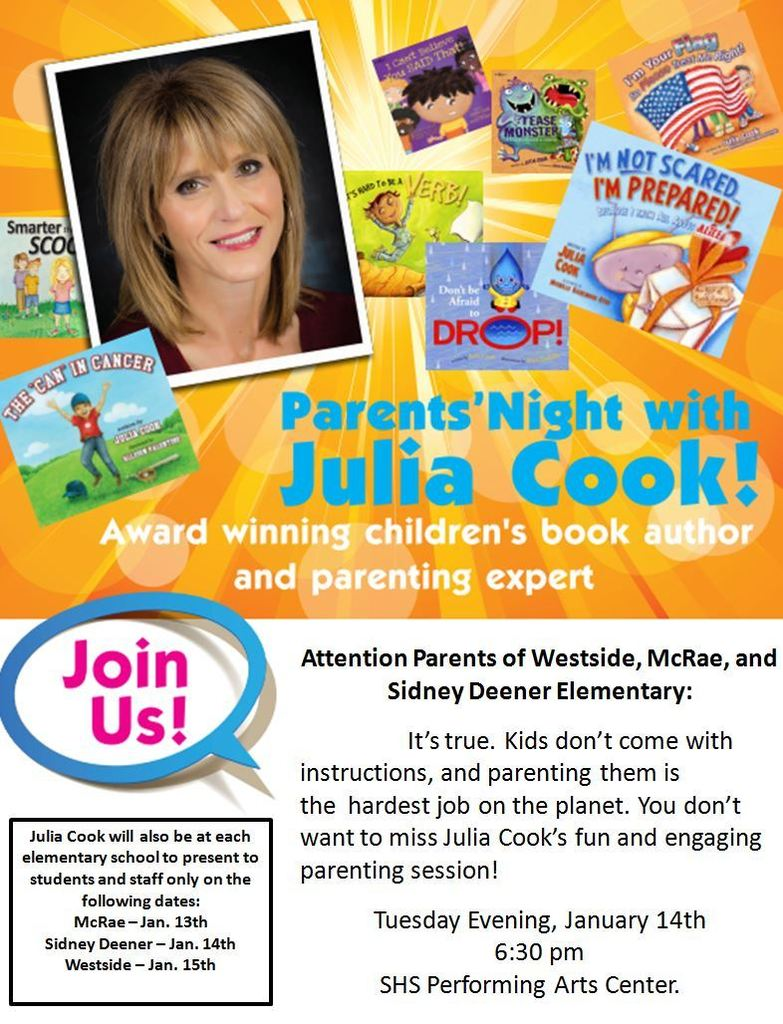 Julia Cook author flyer