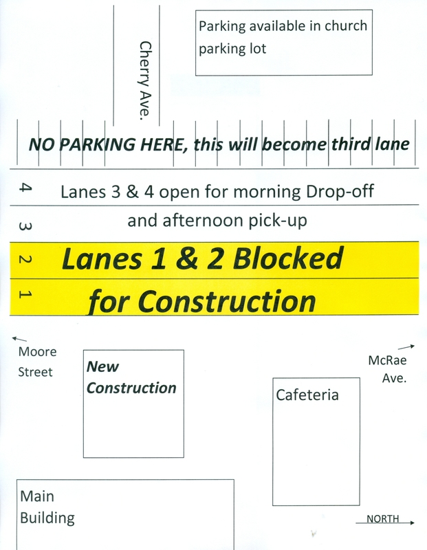 Changes to Drop-off and Pick-up in Front Due to New Construction